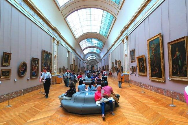 Louvre denon wing Grand Galerie