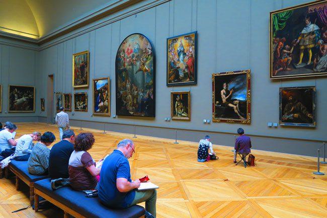 Louvre paris people painting