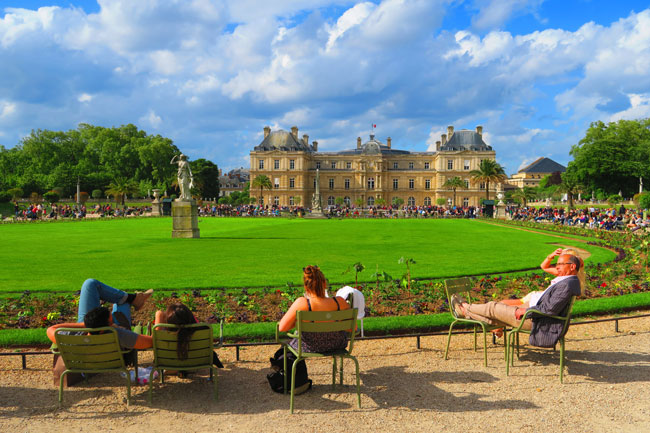 Luxembourg Gardens Paris metal chairs