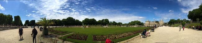 Luxembourg gardens paris panormaic view