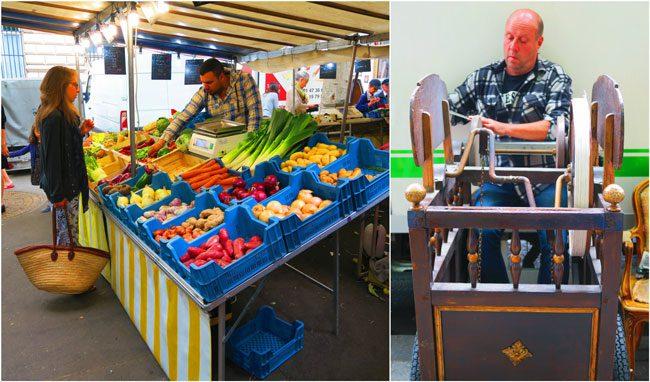 Marche Place Monge Paris food market