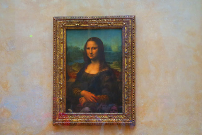 Mona Lisa at Louvre museum