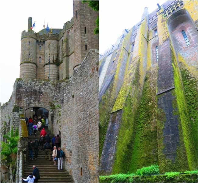 mont saint michel abbey climbing up