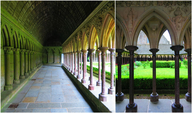 mont saint michel abbey cloister