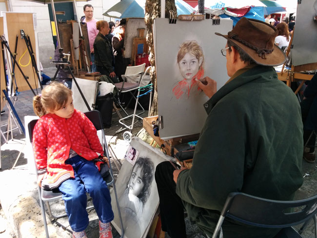 Montmartre Paris portrait artists