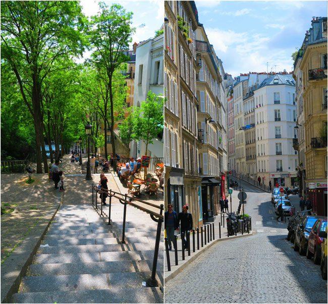 Montmartre paris staircases