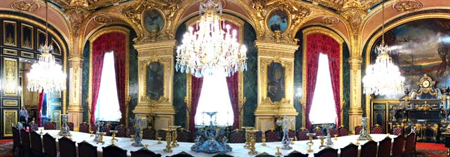 Napoleon III apartments louvre dining hall panoramic view