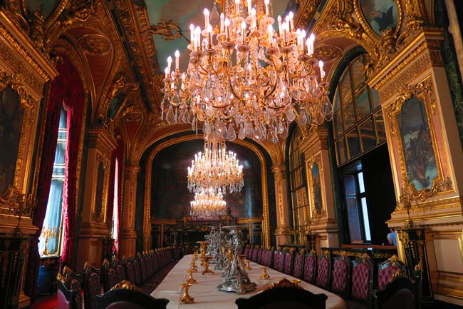 Napoleon III apartments louvre dining hall