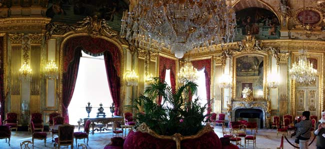 Napoleon III apartments louvre salon hall panoramic view