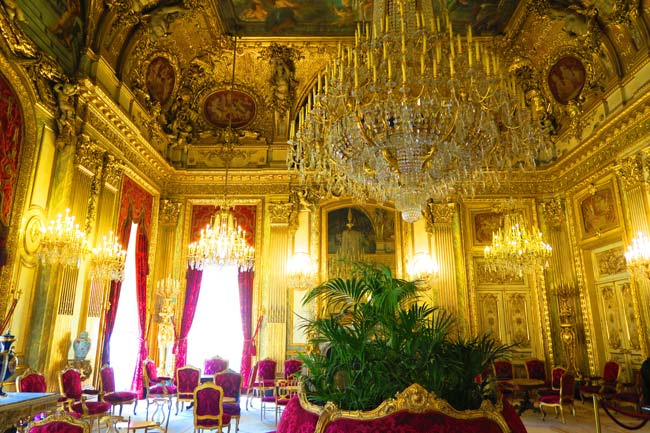 Napoleon III apartments louvre salon hall