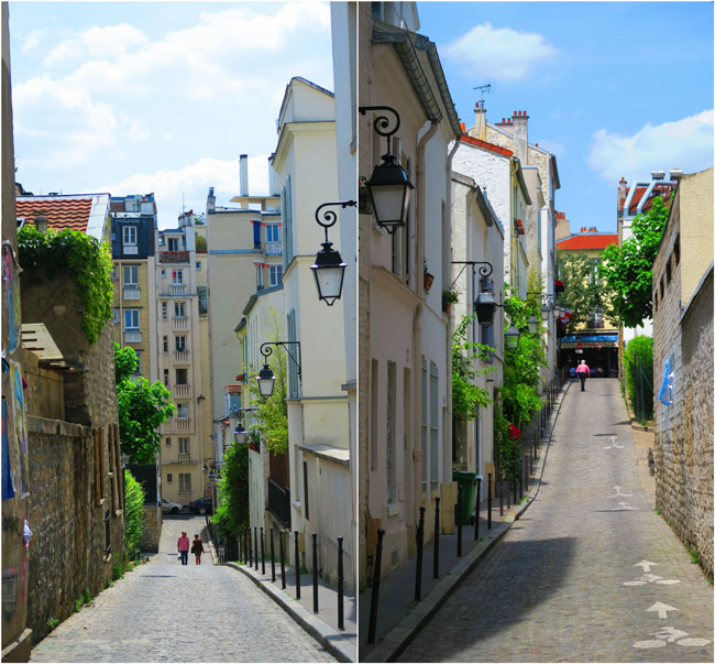 narrow alleys in paris butte aux cailles