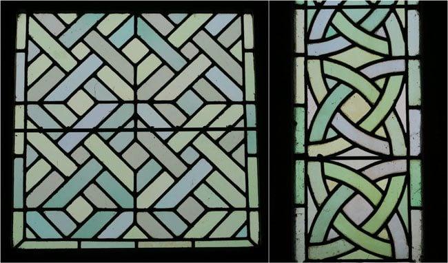 painted glass window mont saint michel abbey