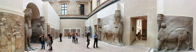panoramic-view---Assyrian-bull-sculptures-Library-of-Ashurbanipal