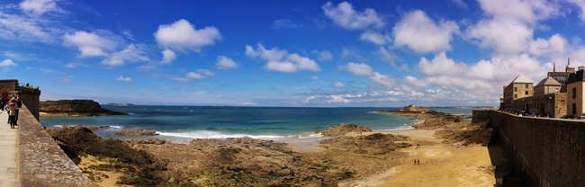 panoramic view fort national saint malo