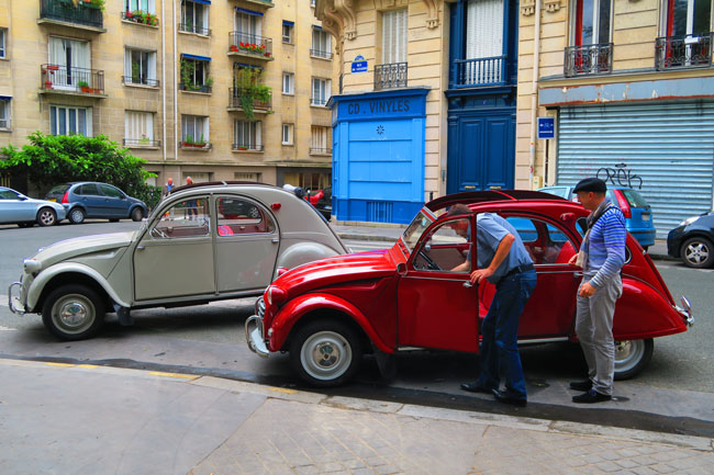 Paris antique cars latin quarter