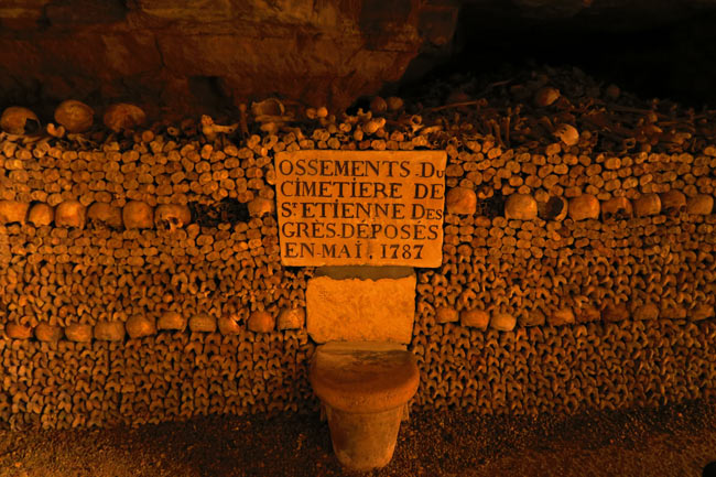 paris catacombs 1787