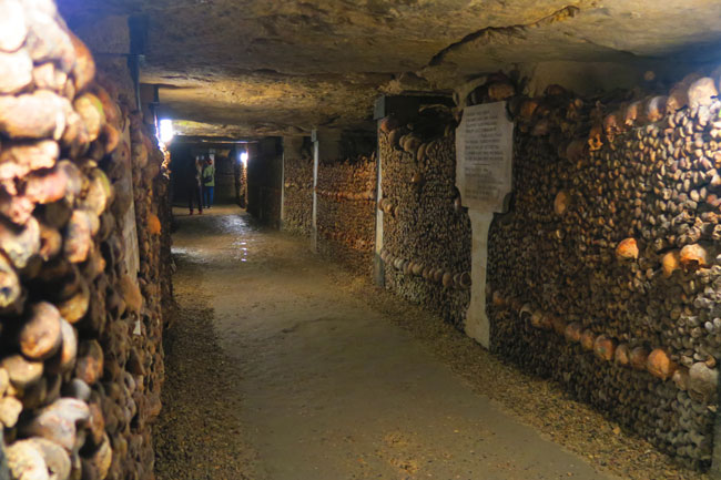 paris catacombs graveyard corridor
