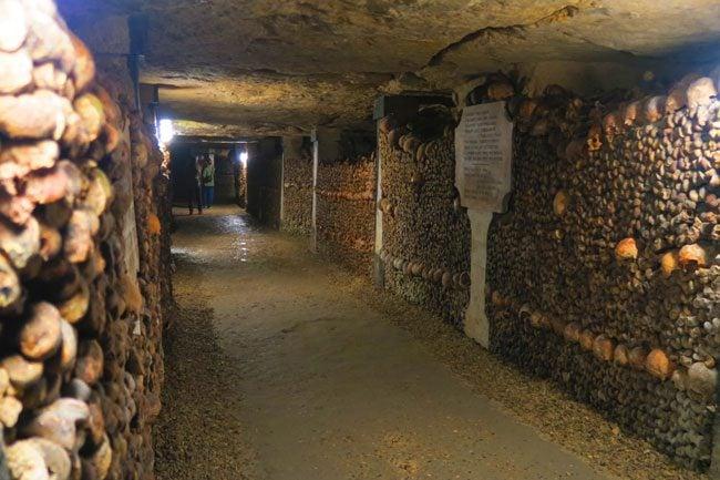 paris catacombs graveyard corridor