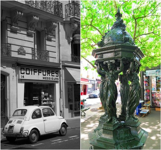 Paris water fountain saint germain de pres