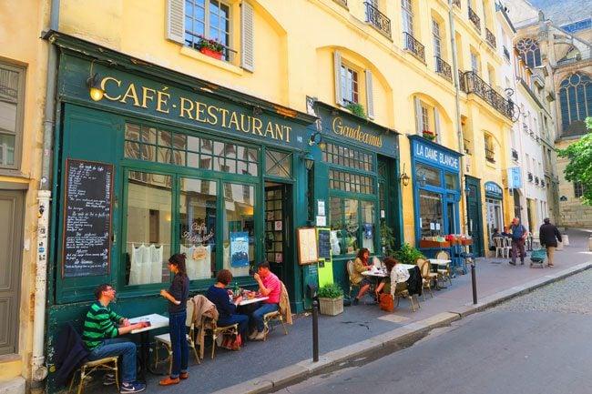 Rue de la Montagne Sainte Geneviève cute Paris street Latin Quarter