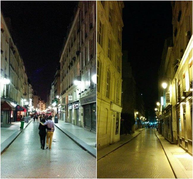 Rue Montorgueil Paris streets by night