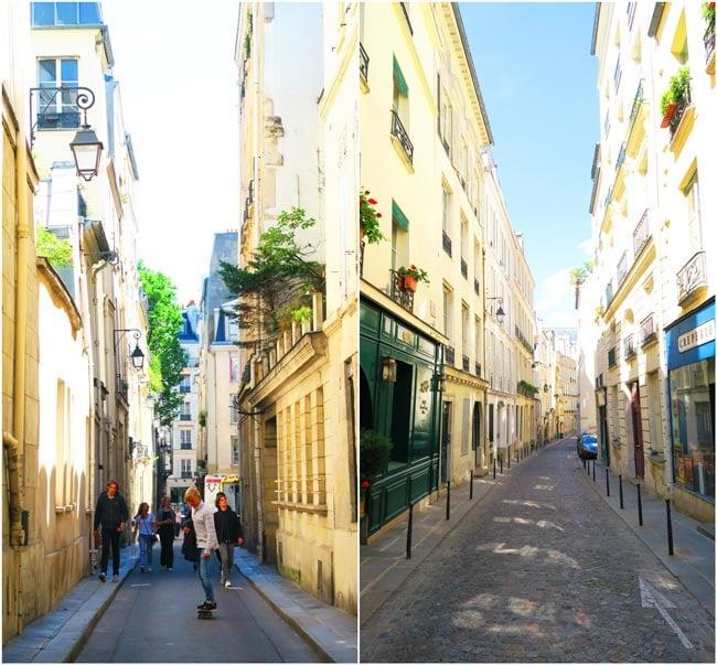 Saint germain de pres itinerary narrow lanes paris