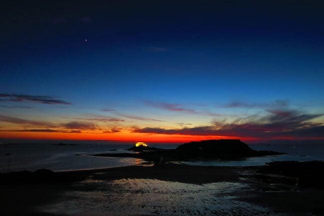 saint malo day turning to night most amazing sunset ever