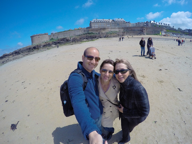 selfie from saint malo beach