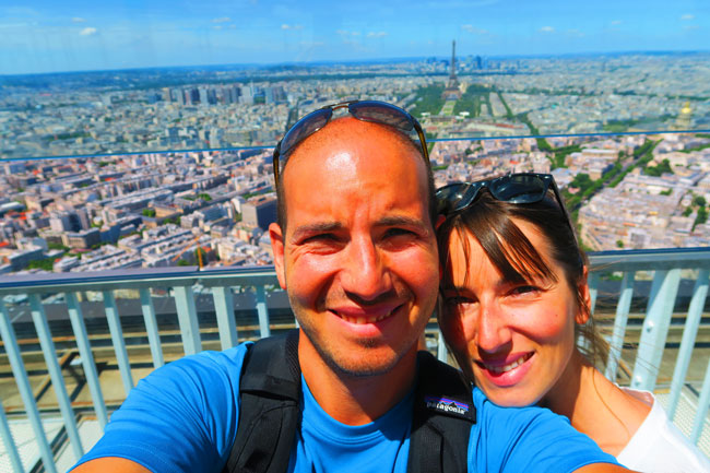 Selfie in Montparnasse Tower Paris