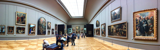 spanish paintings section louvre museum paris