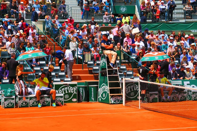 taking a break in french open