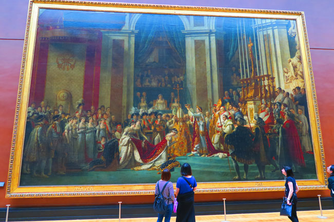 The Coronation of Napoleon louvre museum