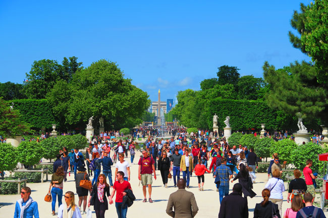 Tuileries Gardens view of concorde