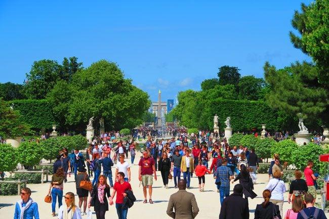 Tuileries Gardens view of concorde