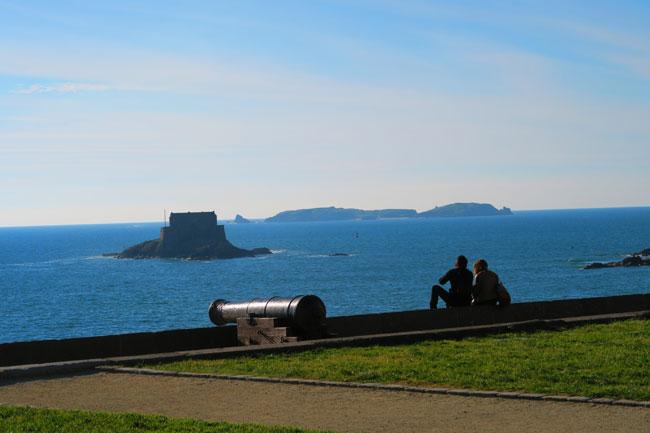 view from saint malo ramparts