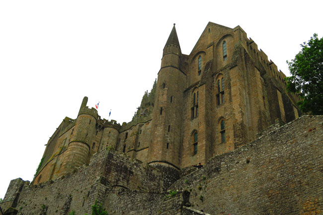 view of mont saint michel abbey