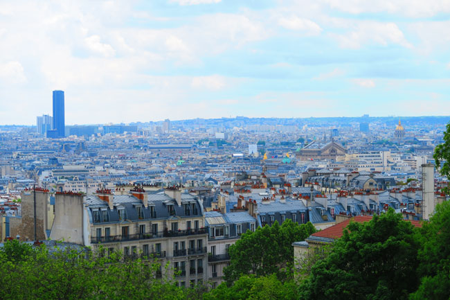 View of Paris from Sacre Coeur Montmartre