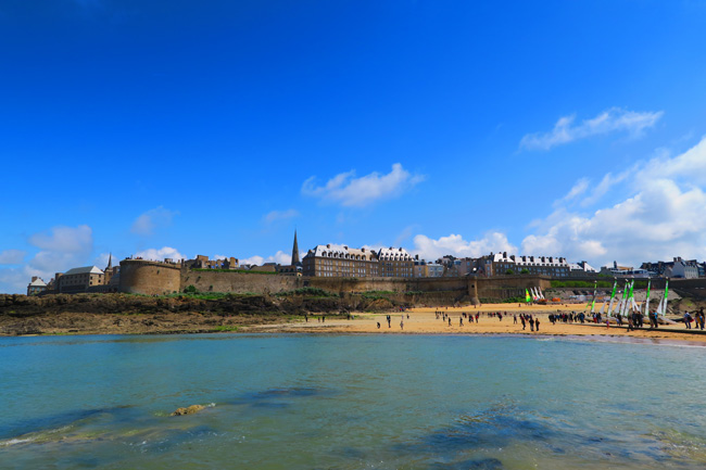view of saint malo from beach