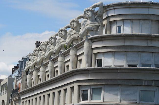 Art nuveau building Paris