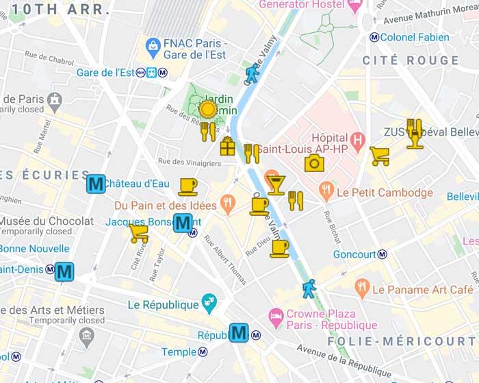 Canal Saint Martin Itinerary - Paris