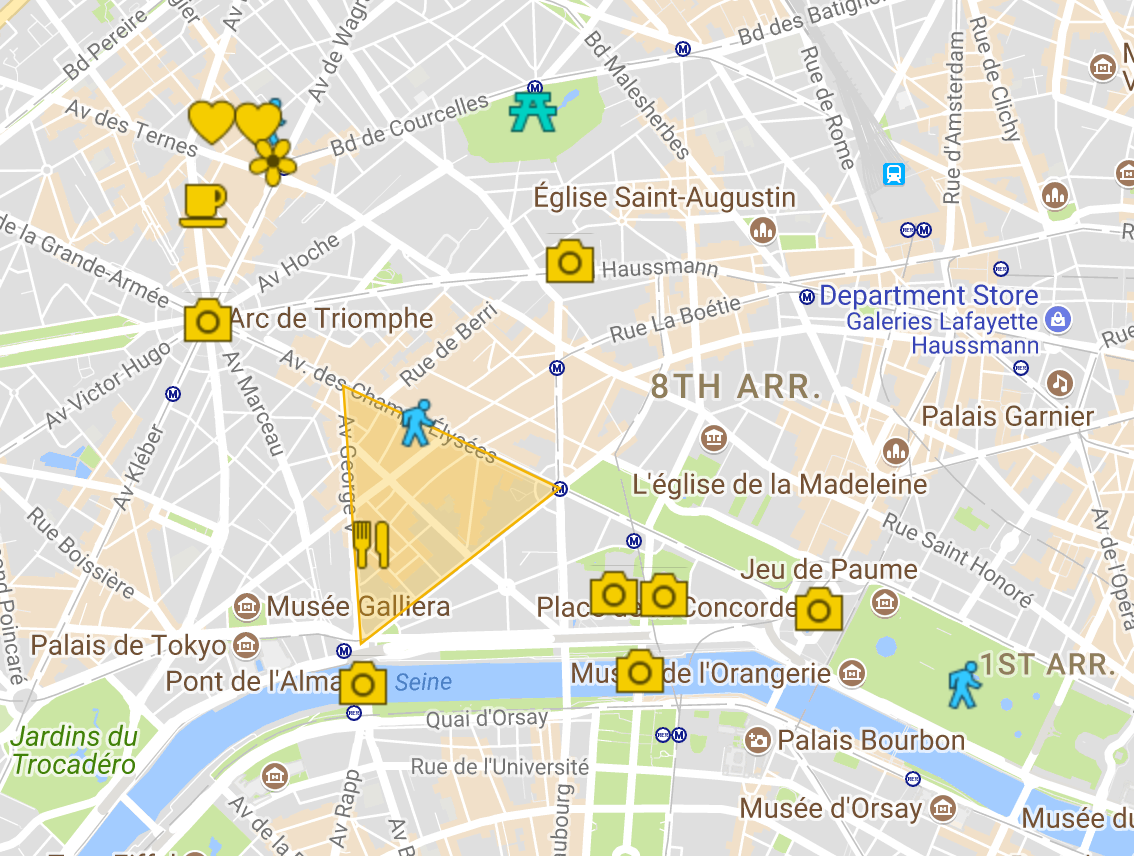 Champs Elysee Map