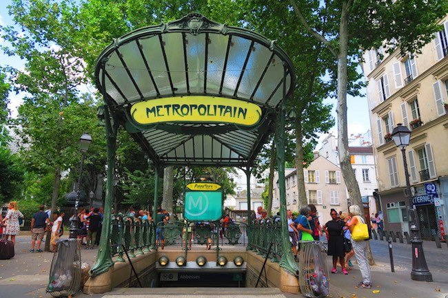 Place des Abbesses classic metro station in Paris