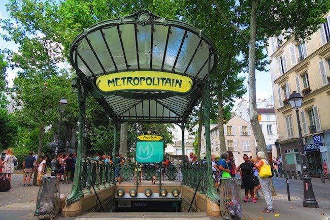 Place des Abbesses classic metro station in Paris