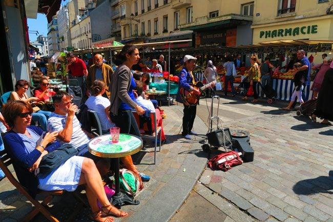Aligre market bastille paris - cafe