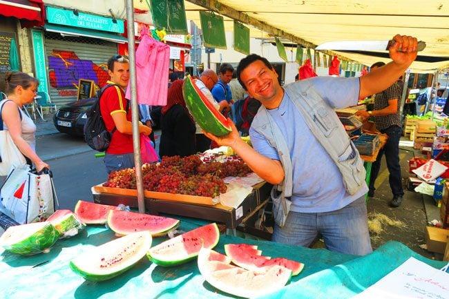 aligre market bastille paris knife