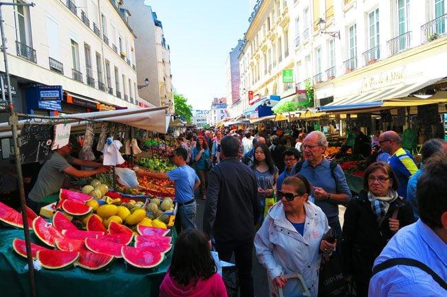 Aligre Market Bastille paris