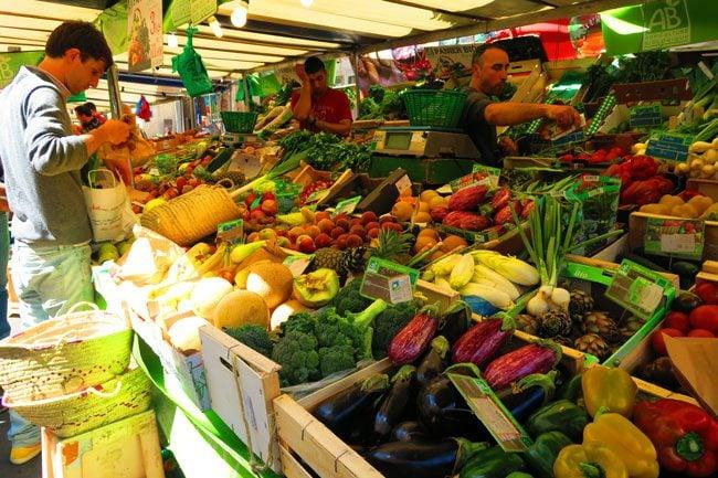 aligre market paris bastille vegetables stall