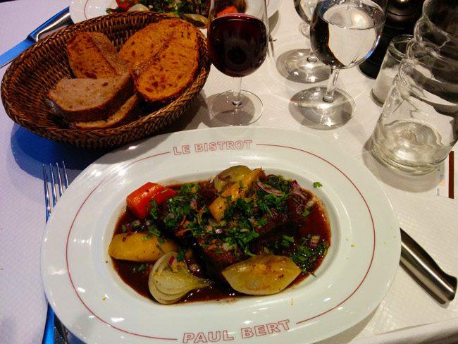 Bistrot Paul Bert paris beef bourguignon