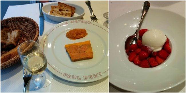Bistrot Paul Bert paris foir gras dessert