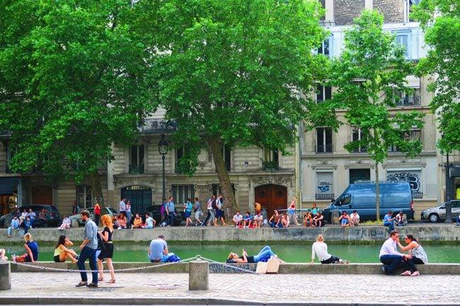 canal saint martin paris gathering